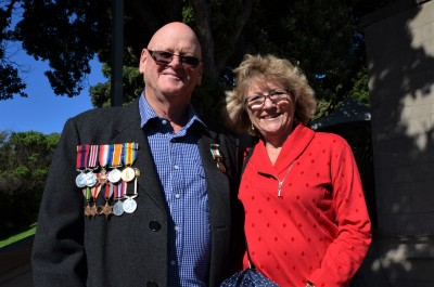 One of the veterans attending the service
