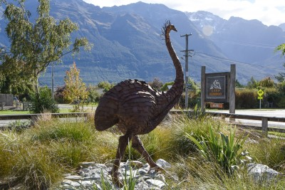 Image of Erma the Moa - like most things at Camp Glenorchy, she's made of recycled materials