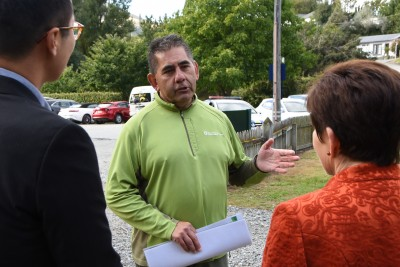 Image of DOC Operations Manager, Wakatipu Geoff Owen talking about wilding pine control