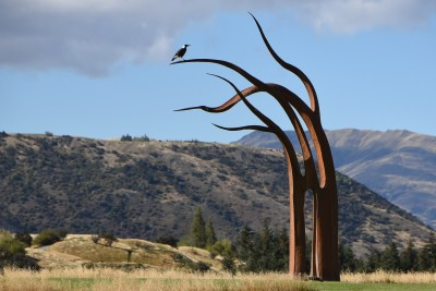 "Image of ""Kelp"" by Mark Hill with perching magpie"