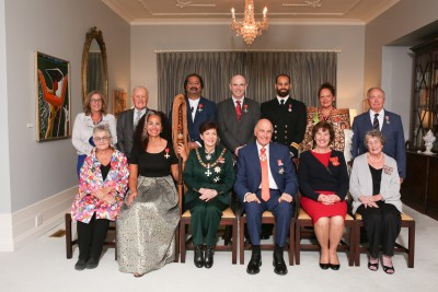 Dame Patsy and Sir David with all the recipients