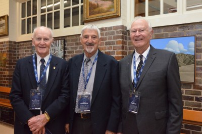 Grammar Old Boys attending the commemorative Assembly