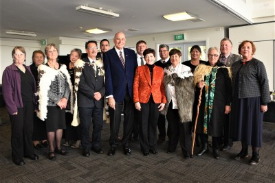 Their Excellencies with Ngai tahu at Otakou