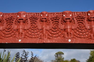 This lintel is made of concrete to withstand the Otago weather