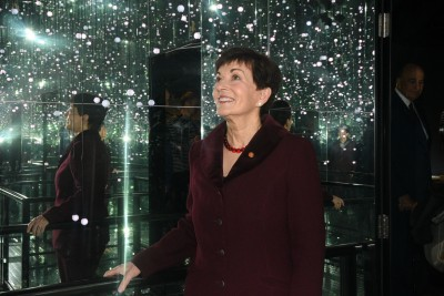 Dame Patsy in the Infinity Room