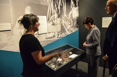 Image of Lizzie Meek, Antarctic Heritage Trust, Programme Manager- Antarctica with Dame Patsy and Sir David