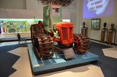 Image of one of the Massey-Ferguson tractors that Sir Edmund Hillary took to the Pole