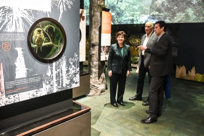Image of Dame Patsy and Sir David inside Zealandia