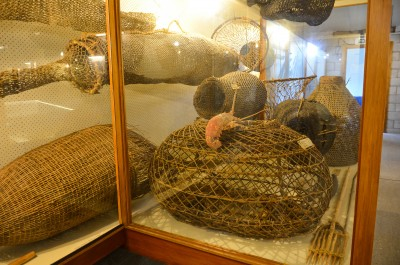These Maori fishing nets and traps come from the local area