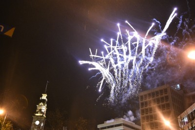 Otago 150 celebratory fireworks in the Octagon