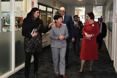 A tour of the school, escorted by Principal Fatima Zaheed