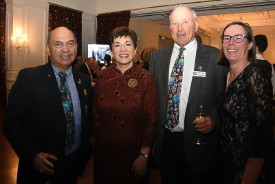 Image of Dame Patsy with guests