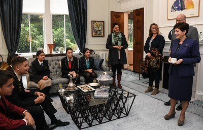 Dame Patsy and Sir David hosted the Pukaki Award winners to morning tea
