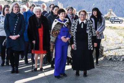 Image of Dame Patsy and kuia Ranui Ngarimu waiting to be welcomed
