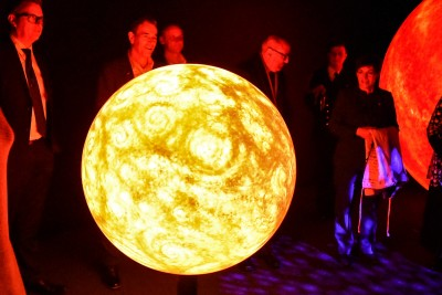 Image of inside the Dark Sky Experience - our own star, The Sun