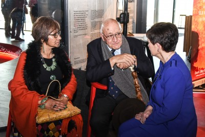 Image of Dame Patsy chatting with Sir Tipene O'Regan