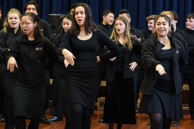 Image if the NZSCC choir in action