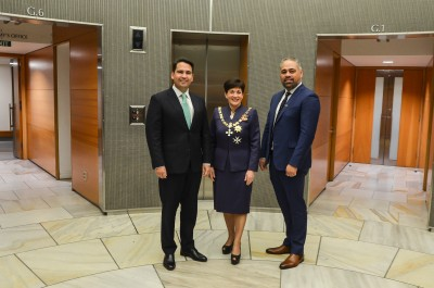 Image of With Leader of the Opposition, Hon Simon Bridges and Minster for Youth, Hon Peeni Henare