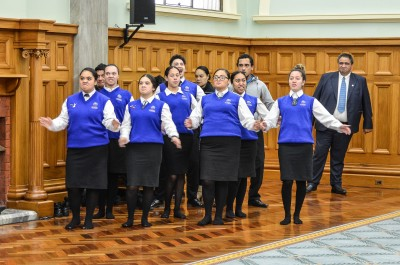 Image of the welcome from the kapa haka group
