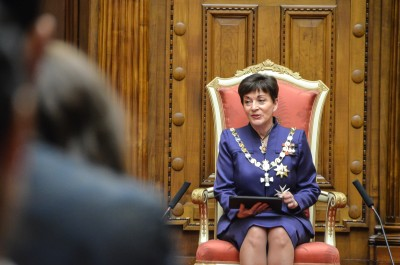Image of Dame Patsy speaking and opens the Youth Parliament 2019