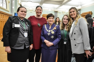 Image of Dame Patsy with Youth MPs and others