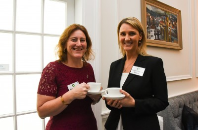 Anouk Alexander, GM Strategy at New Zealand Trade and Industry, and Trish Kirkland-Smith, Sustainability Manager, Fonterra