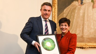 Dame Patsy with Nick Wells, of new Aotearoa Circle Partner, Chapman Tripp