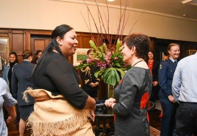 Dame Patsy with Youth Coordinator Sylvia Pauuvale