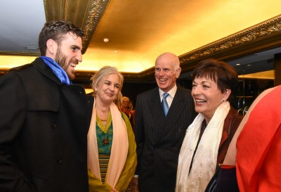Dame Patsy with Peter Hillary, his wife Yvonne, and son George