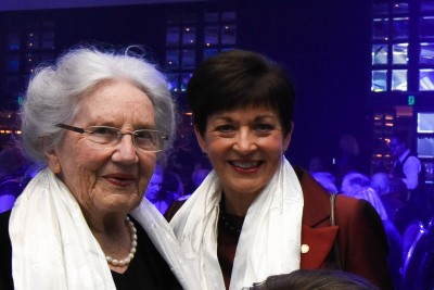 Dame Patsy and Lady June HIllary