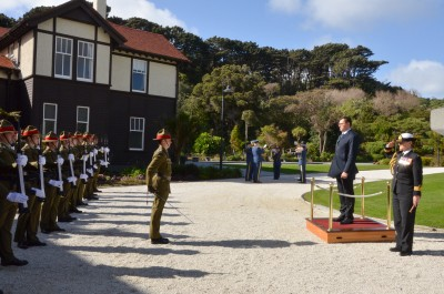 HE Mr Tomas Ferko and the Guard of Honour