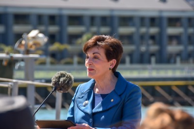 Dame Patsy officially welcomed the crews of the European ships