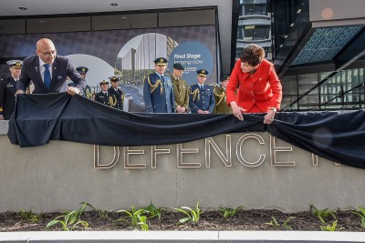 Dame Patsy and Hon Ron Mark formally open Defence House