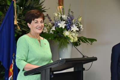 Image of Dame Patsy about to give her speech