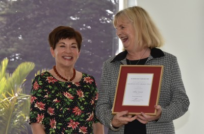 Dame Patsy with the Principal of Auckland Girls Grammar, Ngaire Ashmore