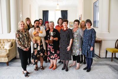 Dame Patsy with Sue McFarlane and her supporters