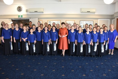 Image of Dame Patsy and the Auckland Girls' Choir