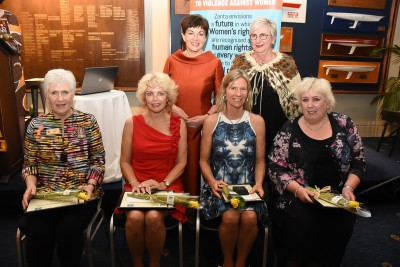 Image of Dame Patsy with Zonta Women of Achievement Award recipients