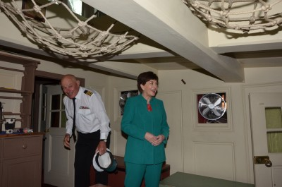 Image of In the main cabin of the Endeavour - where the officers lived