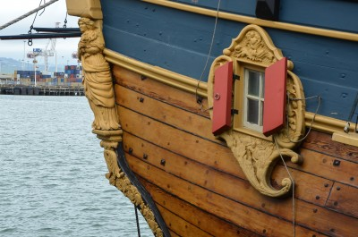 Image of decorative details on the 'Endeavour'
