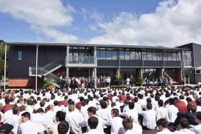 Image of the new McKinnon Block at Scots College