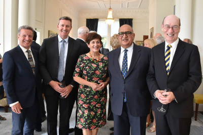 Image of Dame Patsy with the Chancellors of Massey, Victoria, Waikato and Otago Universities