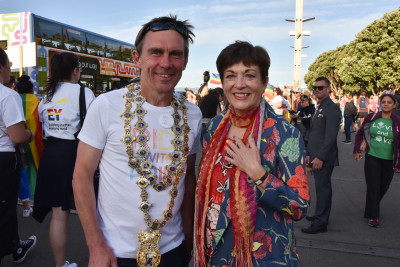 Dame Patsy Reddy and Wellington Mayor Andy Foster