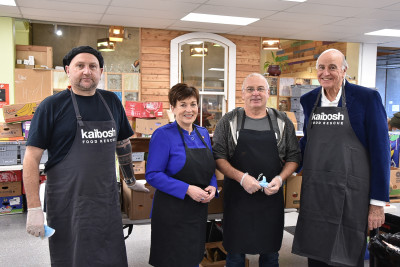 Image of Dame Patsy and Sir David with With Ziggy Ziya and Andrew Haddleton, part of the Kaibosh 'bubble'