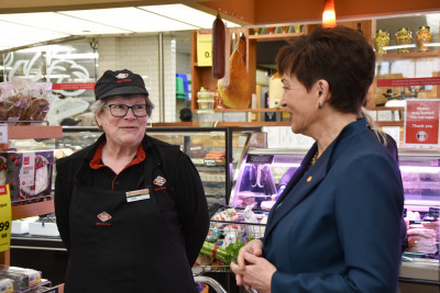 Dame Patsy meets Jane Fagerlund New World Thorndon