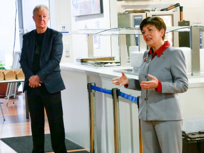 Image of Dame Patsy addressing ACM staff and volunteers
