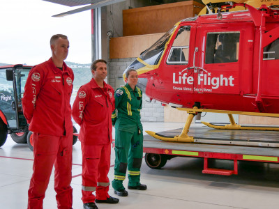 Life flight crew and paramedics