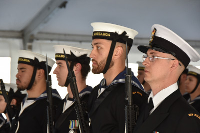 Image of the HMNZS Aotearoa's guard of honour