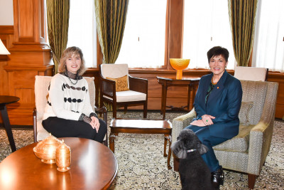 Dame Patsy with Dr Samantha Murton, President of the Royal New Zealand College of General Practitioners