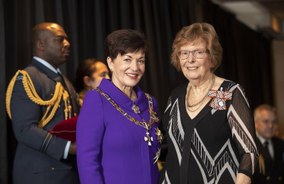 Image of Kathleen Burford, of Christchurch, QSM, for services to migrant and refugee women and crafts